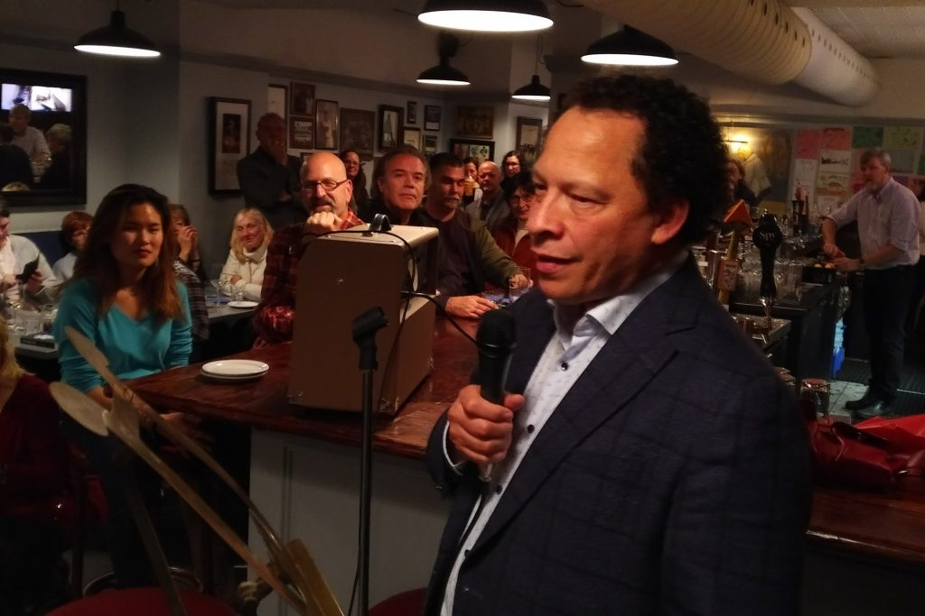 Author Lawrence Hill at The Dime Box launch
